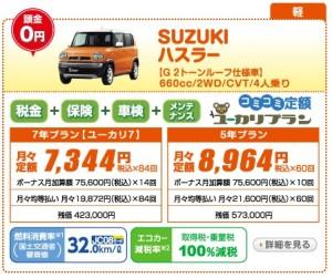 頭金0円OK 新車ハスラー 月々1万円以下