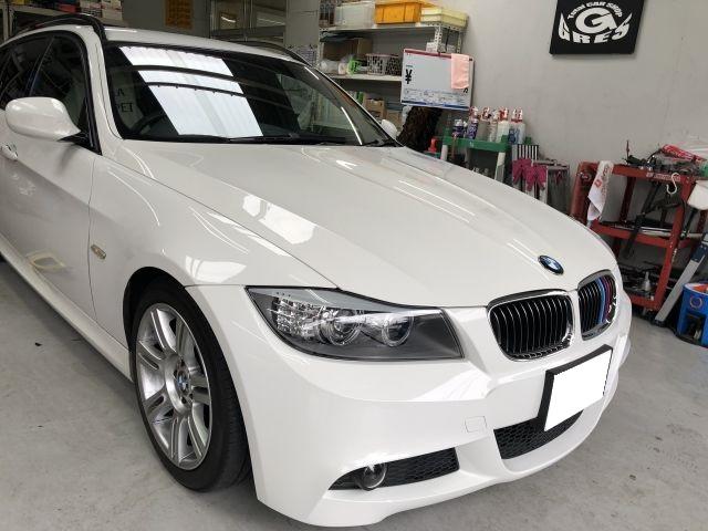 BMW 320i E91系 HIDヘッドライト HIDバルブ 外車パーツ持込み取付 大阪府寝屋川市より