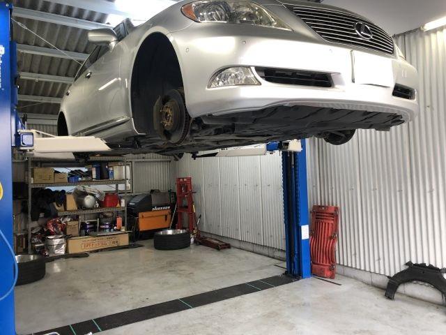 欧米レクサス 左ハンドル LS460L 輸入車車検依頼 24ヵ月法定点検 京都府精華町より