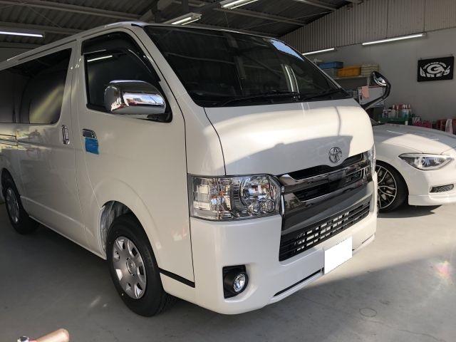 トヨタ 新車 ハイエース 法人カーリースご成約 カーナビ・リアビジョン持込み取付 大阪府大東市より