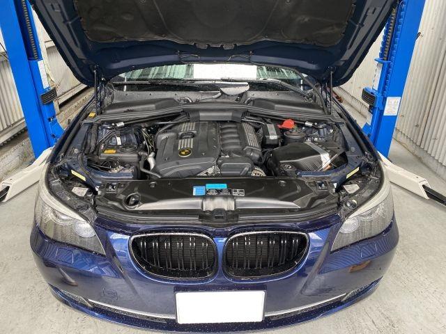 BMW 530i エンジン故障 オイル漏れ点検修理 大阪市都島区より