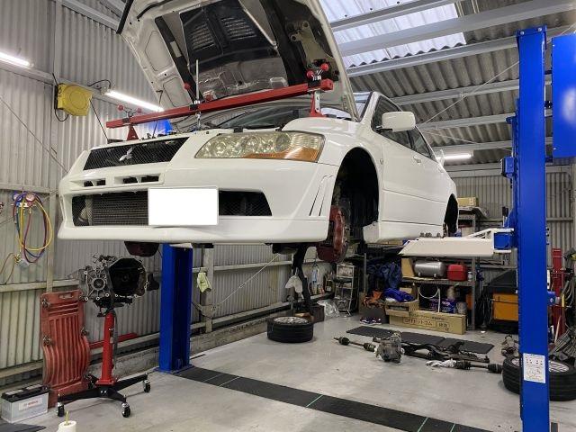 三菱 ランサー ランエボ7 エンジン修理 オイル漏れ修理 大阪府大東市より