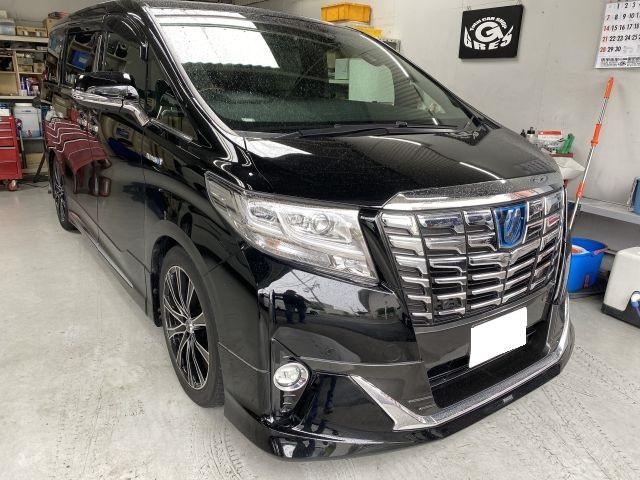 アルファードハイブリッド DAA-AYH30W タイヤ交換/入替 タイヤ持込 大阪市東淀川区より