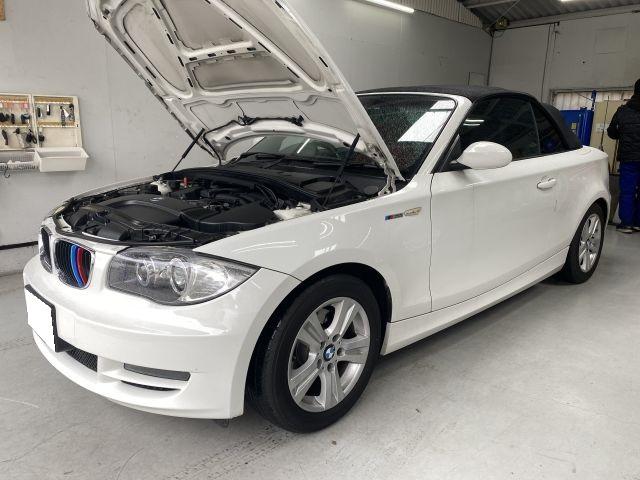 BMW 1シリーズ 120iガブリオレ エンジンオイル交換 外車オイル交換依頼 大阪府門真市より