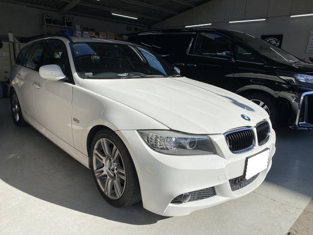 BMW 320i LBA-US20 エアーエレメント取替 外車部品持込 京都府木津川市より
